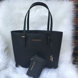 Michael Kors Carryall Tote and Wallet Set